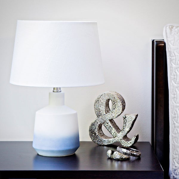 Blue Ombre Ceramic Table Lamp