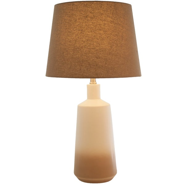"Brown Ombre Ceramic Coffee Table Lamp - 25""H"