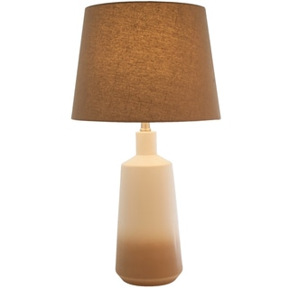 Brown Ombre Ceramic Coffee Table Lamp
