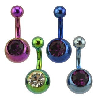 Supreme Jewelry Anodized Mini Belly Rings (4 Color Combinations)