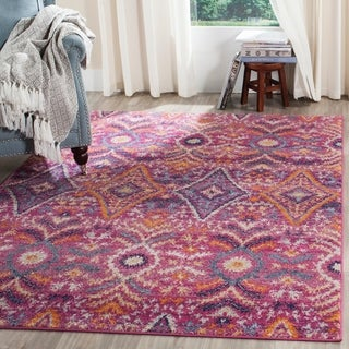 Safavieh Madison Bohemian Fuchsia/ Multi Rug (4' x 6')