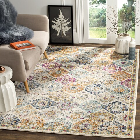 The Curated Nomad Bernal Vintage Bohemian Cream/Multi Rug - 4' x 6'