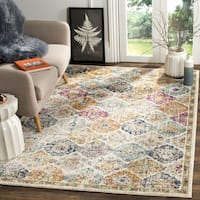 Safavieh Madison Bohemian Vintage Cream/ Multi Distressed Rug - 4' x 6'