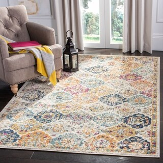 Safavieh Madison Bohemian Vintage Cream/ Multi Distressed Rug (3' x 5') - 3' x 5'