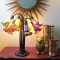 Gracewood Hollow Filloux Mercury Glass 10-light 21-inch Lily Downlight Rainbow Table Lamp