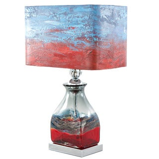 Impressionist Collection 20.75-inch High 'San Diego Sunrise' Hand-painted Shade Table Lamp