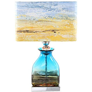 Havenside Home Buckroe 20.75-inch Beach Glass Table Lamp