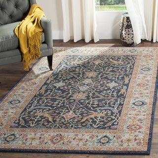 Safavieh Madison Oriental Navy/ Cream Rug (3' x 5')