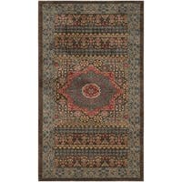 Safavieh Mahal Traditional Grandeur Navy/ Red Rug - 3' x 5'