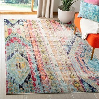 safavieh monaco vintage bohemian multicolored distressed rug (3' x