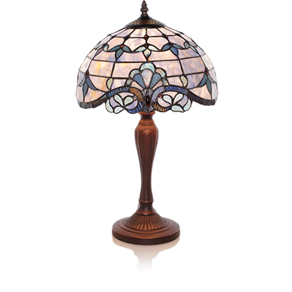Copper Grove Carnach Blue Stained Glass 20.5-inch High Table Lamp
