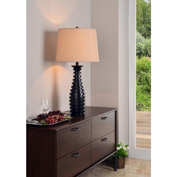 """Design Craft Vertigo 30.5"""" Table Lamp - Oil Rubbed Bronze"""