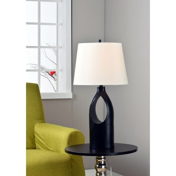 Design Craft Shui Gloss Black 29-inch Table Lamp