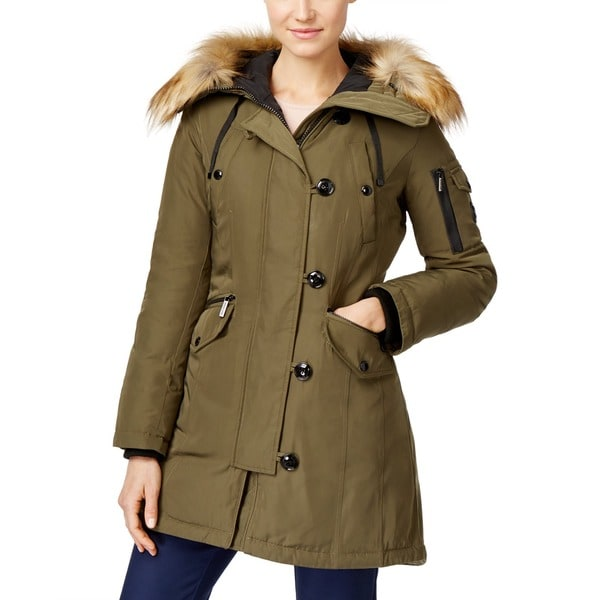 Michael Kors Olive Green Down Parka - Free Shipping Today ...