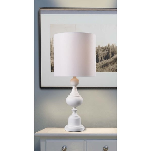 Design Craft Tanya 30-inch Table Lamp - White