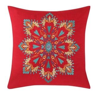 Fiesta Boho Medallion 18 x 18 Square Decorative Pillow