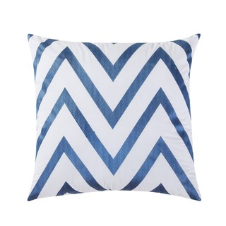 Fiesta Chevron Cotton Blend 18-inch Decorative Pillow