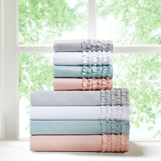 Intelligent Design Ruffled Microfiber Sheet Set 4-Color Option