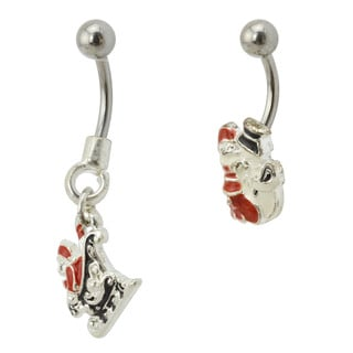 Supreme Jewelry Surgical Steel Santa Claus Belly Rings (Set of 2)
