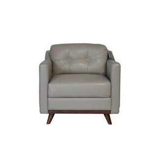 Monika Taupe Top Grain Leather Chair
