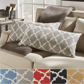 montvale moroccan pattern toss kidney pillow set of 2 by inspire q bold