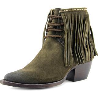 Frye Women's Sacha Fringe Chukka Green Suede Boots