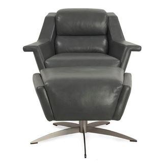 Kaato Full Top-grain Leather Swivel Chair