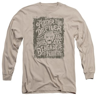Hobbit/Azog Long Sleeve Adult T-Shirt 18/1 in Sand