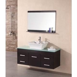 Madrid Espresso 36-inch Single Sink Wall Mount Vanity Set