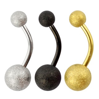 Supreme Jewelry Sandpaper Glitter Belly Ring (Pack of 3)