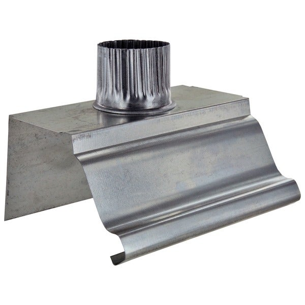 Shop Norwesco 223006 4 Inch X 2 Inch Galvanized Outlet Section Gutter Fitting Style K