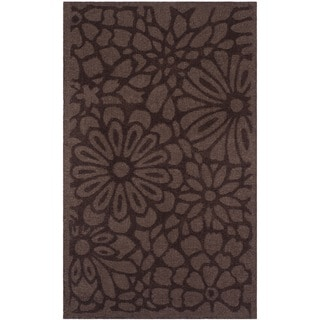 Martha Stewart by Safavieh Full Bloom Tilled Soil Brown Wool Rug (3' x 5')
