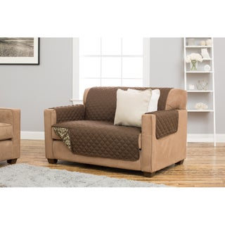 Home Fashion Designs Kingston Collection Deluxe Stain Resistant Loveseat Protector