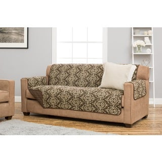 Home Fashion Designs Kingston Collection Deluxe Multicolored Polyester Reversible Stain-resistant Sofa Protector