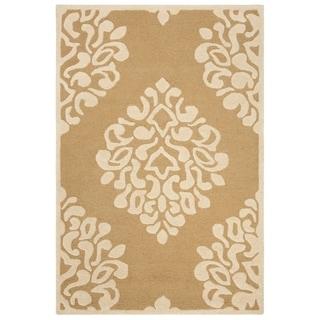 Martha Stewart by Safavieh Floral Damask Dune Wool Rug (4' x 6')