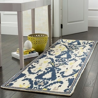 Martha Stewart by Safavieh Ikat Pendant Mariner Wool Rug (4' x 6')