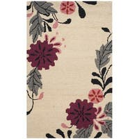 Martha Stewart by Safavieh Picture Block Ivory Wool Rug - 3' x 5'