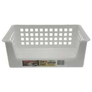 Rubbermaid 5582RDWHT 14-inch Slide'N Stack Stacking Basket