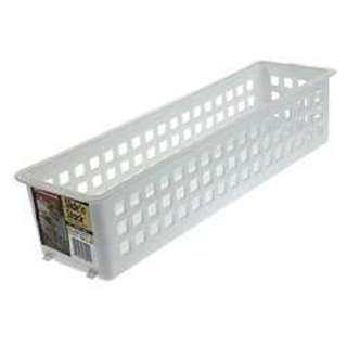 Rubbermaid 5580RDWHT 5-inch Slide'N Stack Stacking Basket