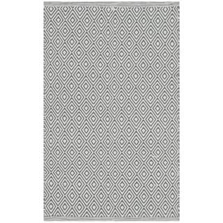 Safavieh Hand-Woven Montauk Flatweave Ivory / Grey Cotton Rug (3' x 5')