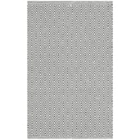 Safavieh Hand-Woven Montauk Flatweave Ivory / Grey Cotton Rug - 3' x 5'