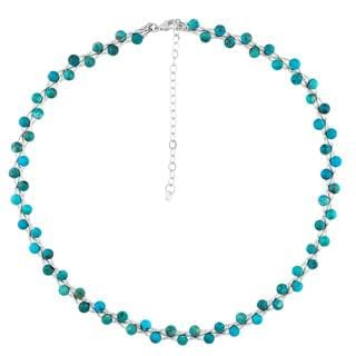 Sterling Silver Turquoise Woven Necklace