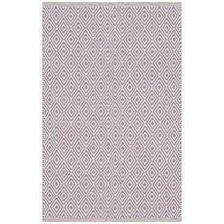 Safavieh Hand-Woven Montauk Flatweave Ivory / Purple Cotton Rug (3' x 5')