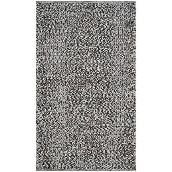 Safavieh Hand-Woven Montauk Flatweave Blue / Multicolored Cotton Rug (3' x 5')