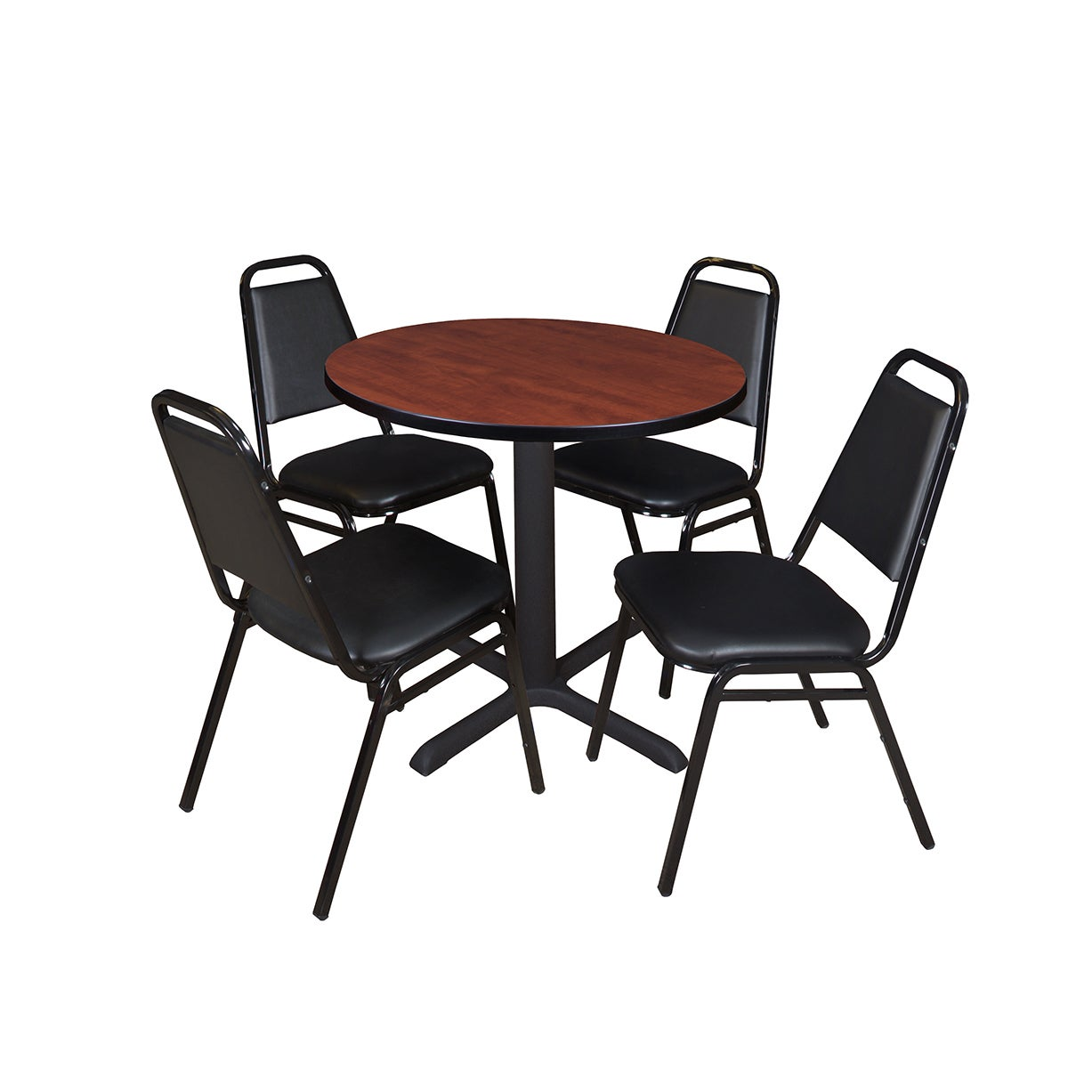 Regency Seating Cain 30-inch Round Breakroom Table with 4...