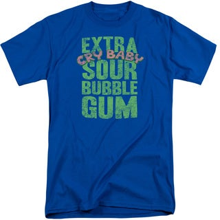 Dubble Bubble/Extra Sour Short Sleeve Adult T-Shirt Tall in Royal