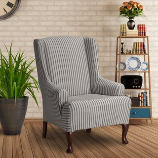 Landon Stretch Wing Chair Slipcover