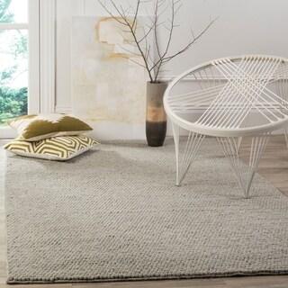 Safavieh Handmade Natura Southwestern Silver Wool / Cotton Rug (4' x 6')