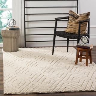 Safavieh Handmade Natura Southwestern Ivory Wool / Cotton Rug (4' x 6')