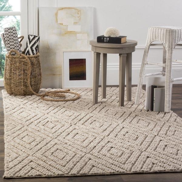 Safavieh Handmade Natura Southwestern Beige Wool / Cotton Rug (4' x 6')